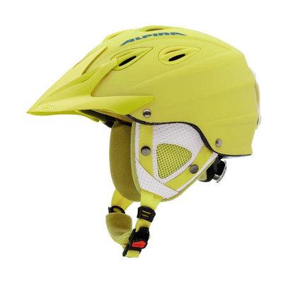 Alpina grap cross skihelm - geel mat