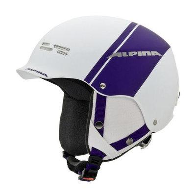 Alpina spam cap skihelm- wit paars mat