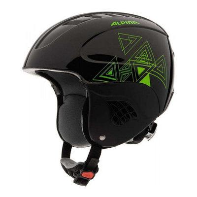 Alpina carat skihelm kind- zwart groen