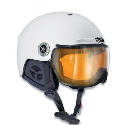 Osbe New Light Wit - Osbe Skihelm met Meekleurend Vizier cat. 1-3 (☁/❄/☀)