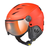 Skihelm met Vizier Camulino - Red s.t. / Black  - Orange Silver Mirror