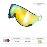 CP Kinder Skihelm met Vizier - CP Camulino Oranje - goud spiegel Vizier | Perfect Zicht - Geen Verlies Skibril | Kom Passen / B