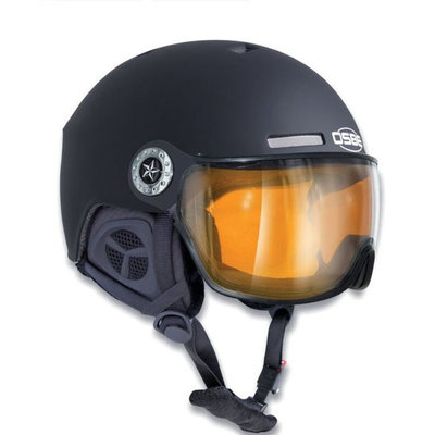 Osbe New Light Zwart - Osbe Skihelm met Meekleurend Vizier cat. 1-3 (☁/❄/☀)
