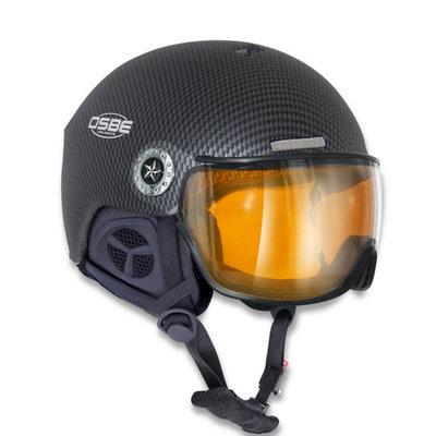 Osbe New Light Carbon Zwart - Osbe Skihelm met Meekleurend Vizier cat. 1-3 (☁/❄/☀)