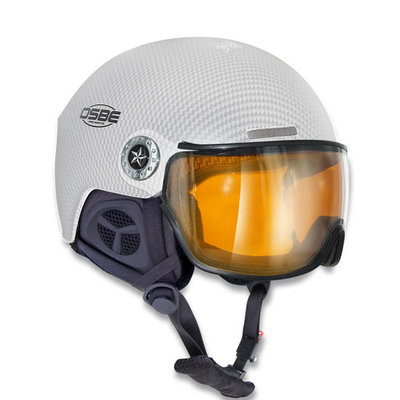 Osbe New Light Carbon Wit - Osbe Skihelm met Meekleurend Vizier cat. 1-3 (☁/❄/☀)