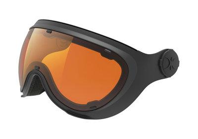 Slokker Skihelm Vizier - Meekleurend (☁/❄/☀) & Polariserend - Zwart Oranje