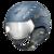 CP Cuma Cubic Skihelm met Meekleurend Vizier - Blauw