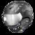 CP Cuma Cubic Skihelm met Meekleurend Vizier - Zwart