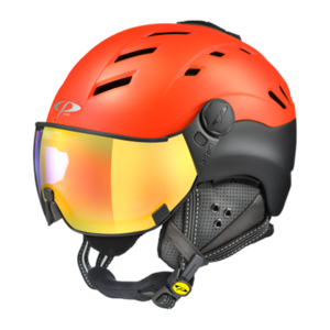 Cp Skihelm met vizier Camurai Power Red s.t./Black s.t. Dl Vario Multicolour Mirror
